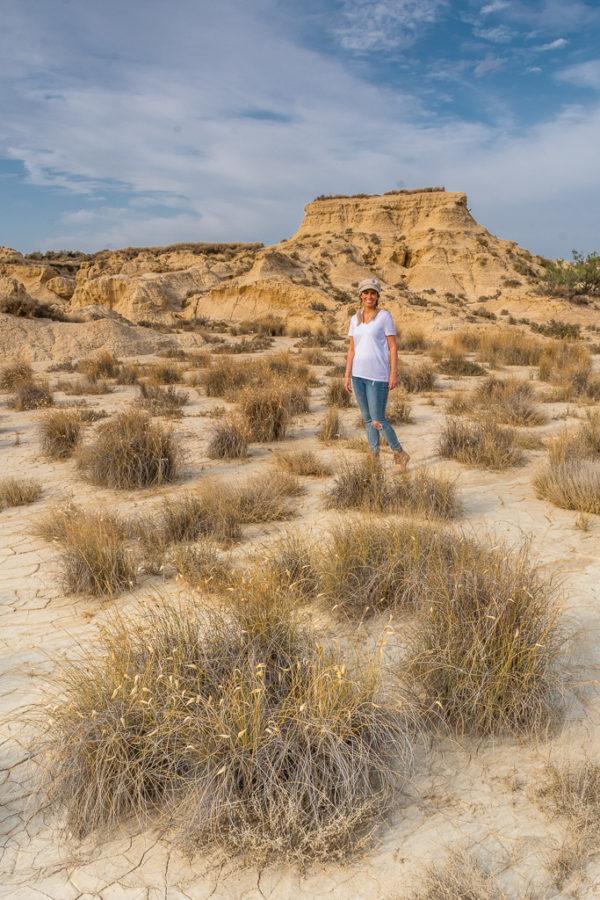 """Die Halbwüste """"Bardenas Reales"""" in der Region Navarra in Nordspanien"""