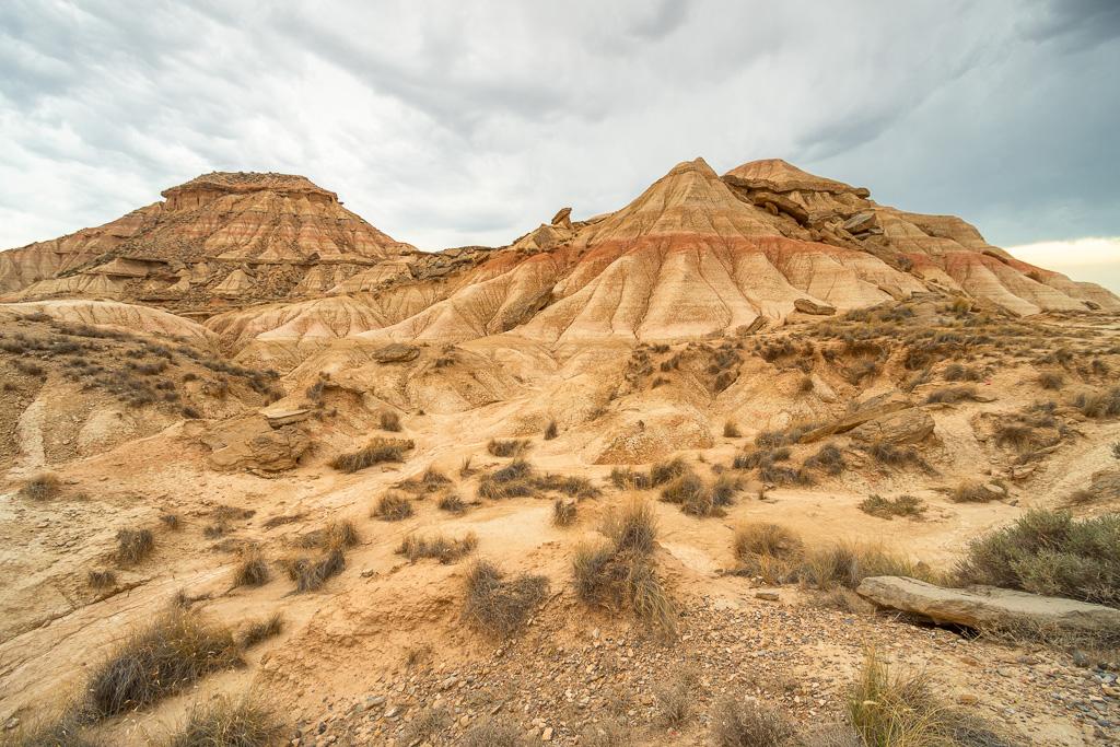 "Landschaft der Halbwüste ""Bardenas Reales"" in Nordspanien"