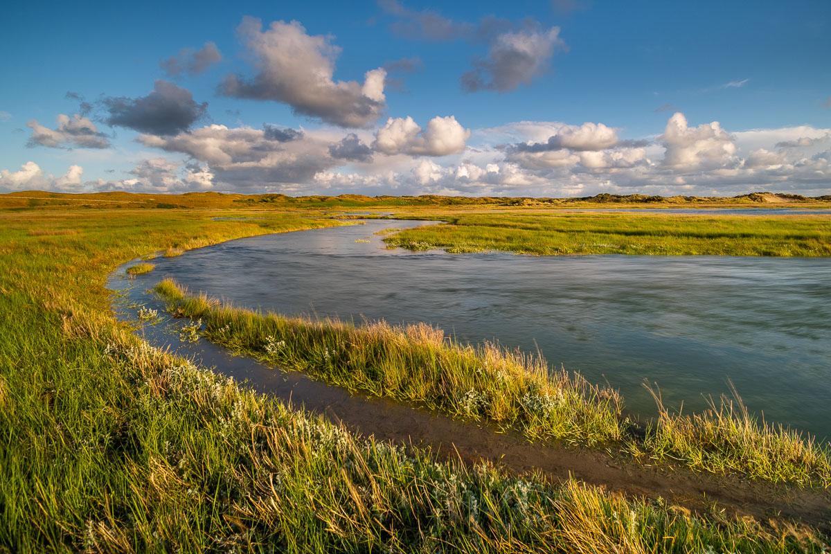 Wasserverlauf in dem Gebiet De Slufter auf Texel