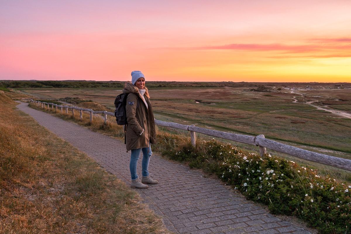 "Sonnenuntergang im Gebiet ""De Slufter"" auf Texel"