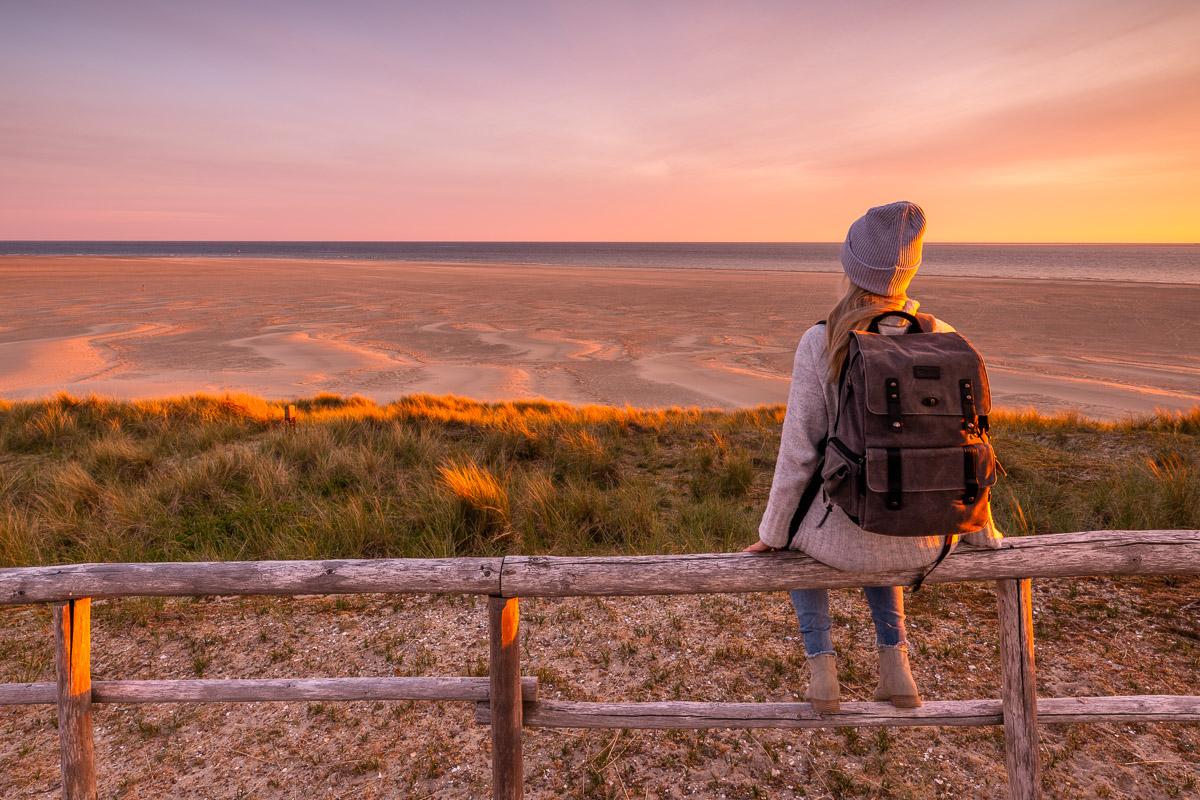 Sonnenuntergang am Strand auf Texel