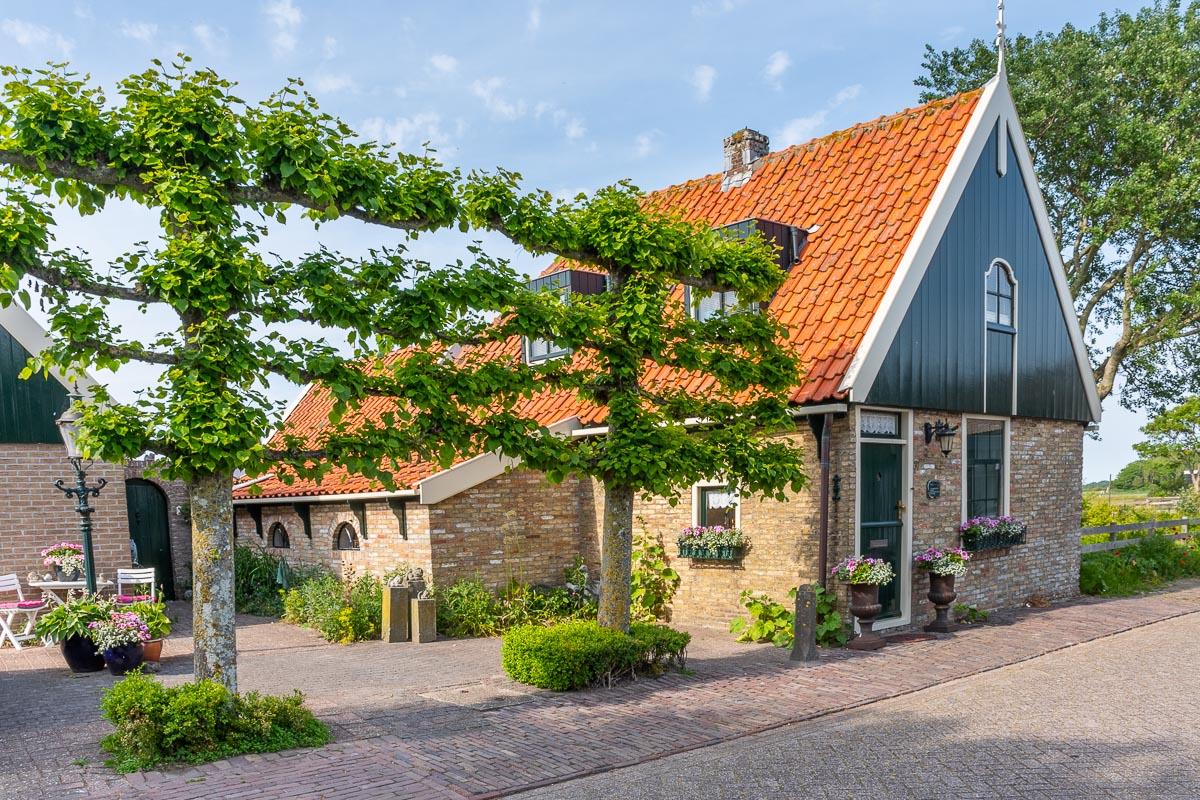 Hübsche Häuserwand auf Texel