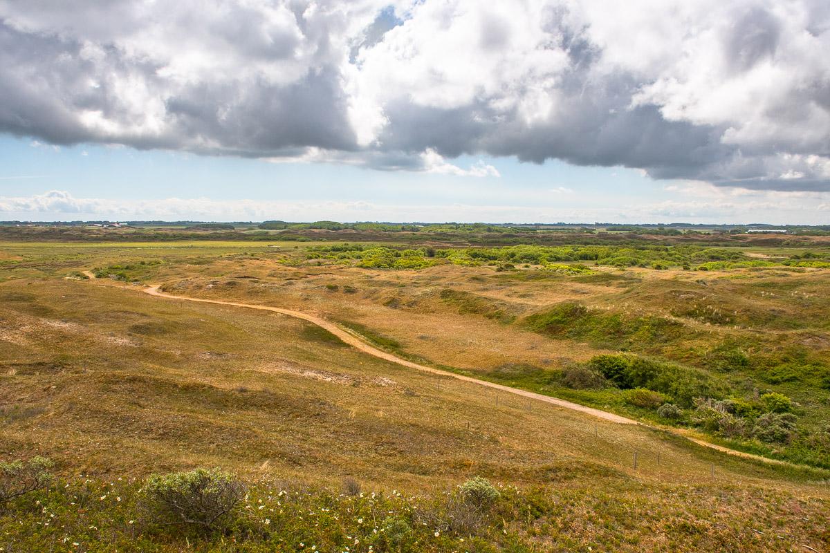 Aussicht auf die weite Landschaft und Natur von Texel