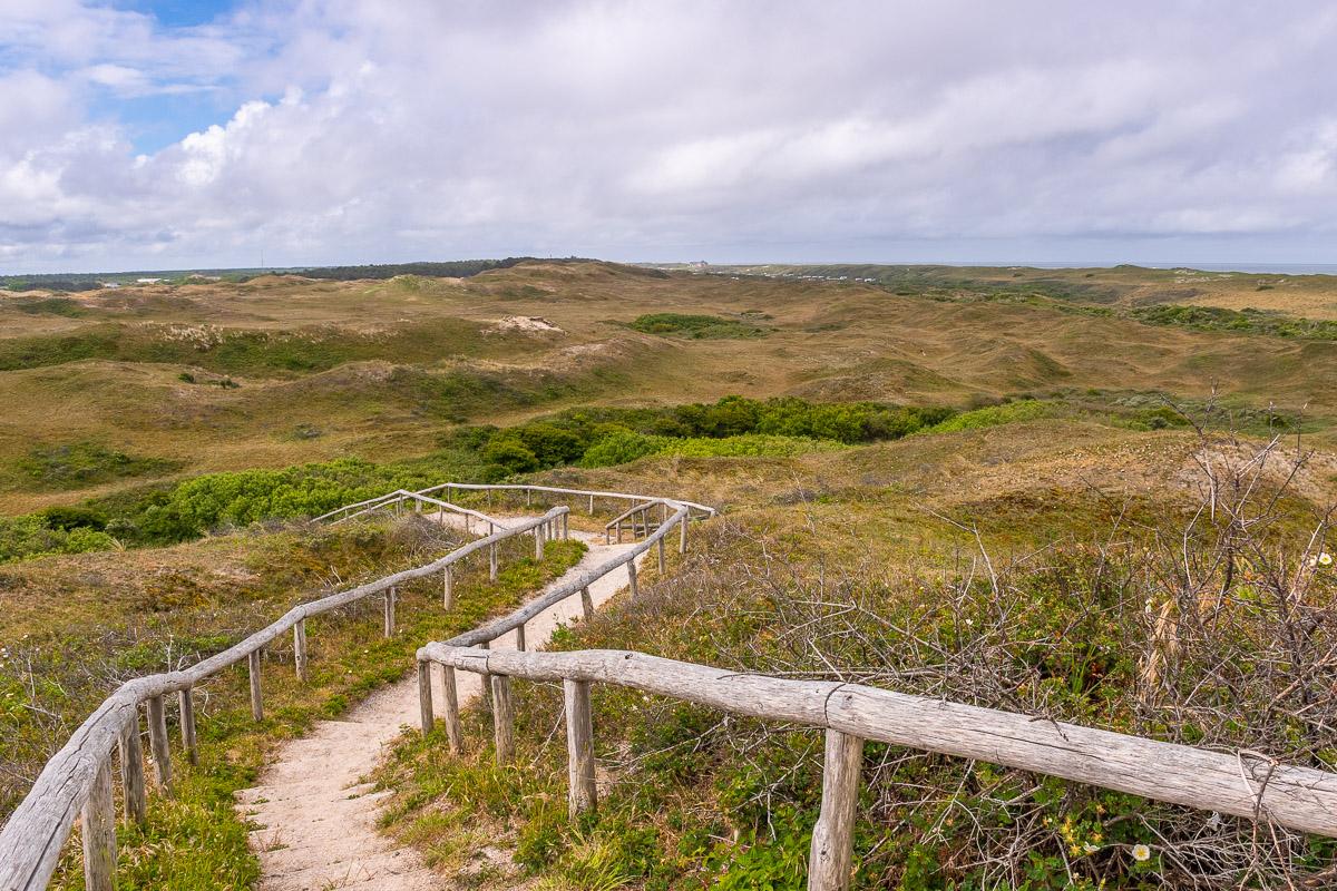 Aussicht auf die weite Landschaft von Texel
