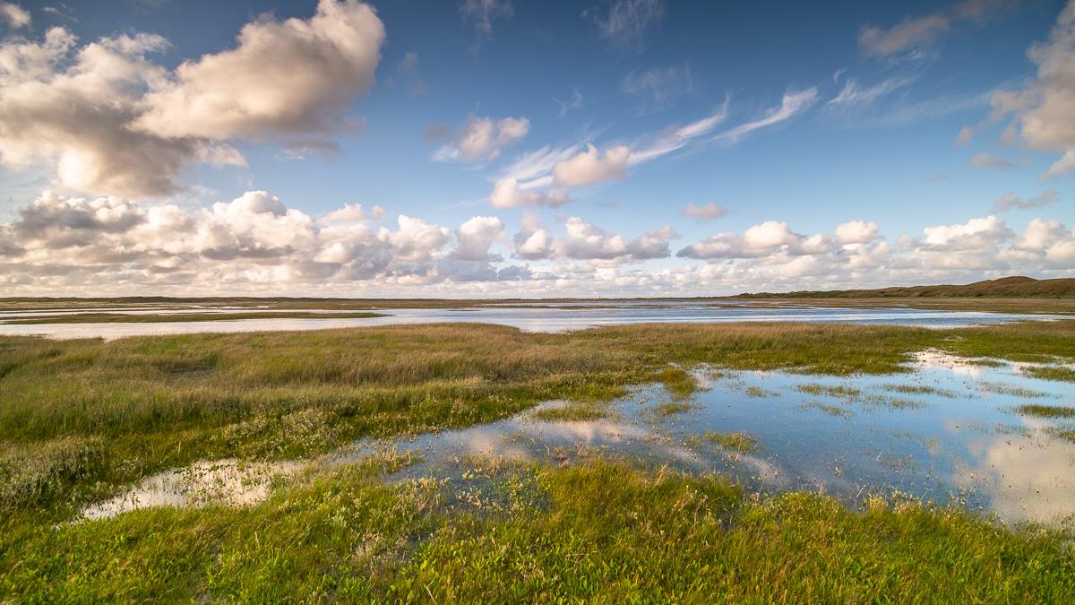 Salzseen in De Slufter auf Texel