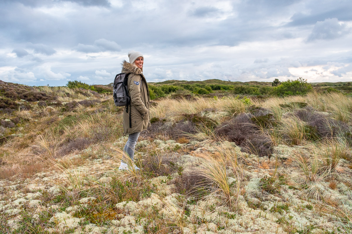 Wanderung auf Texel im Gebiet Het Alloo