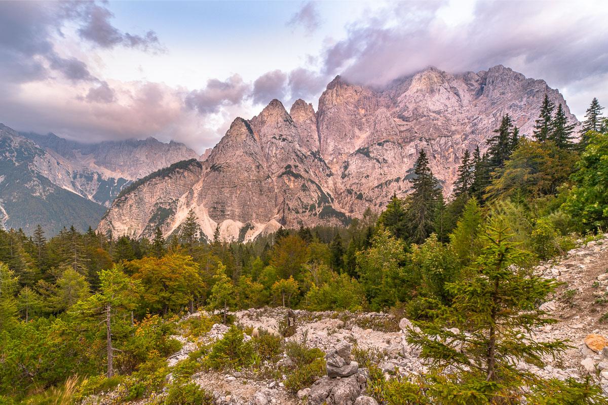 Alpenpanorama in Slowenien