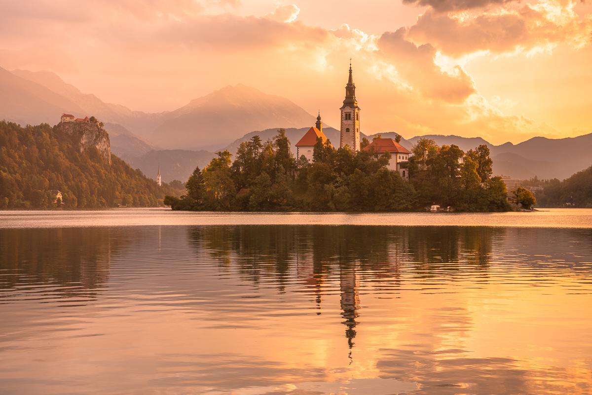 Sonnenaufgang am Bleder See