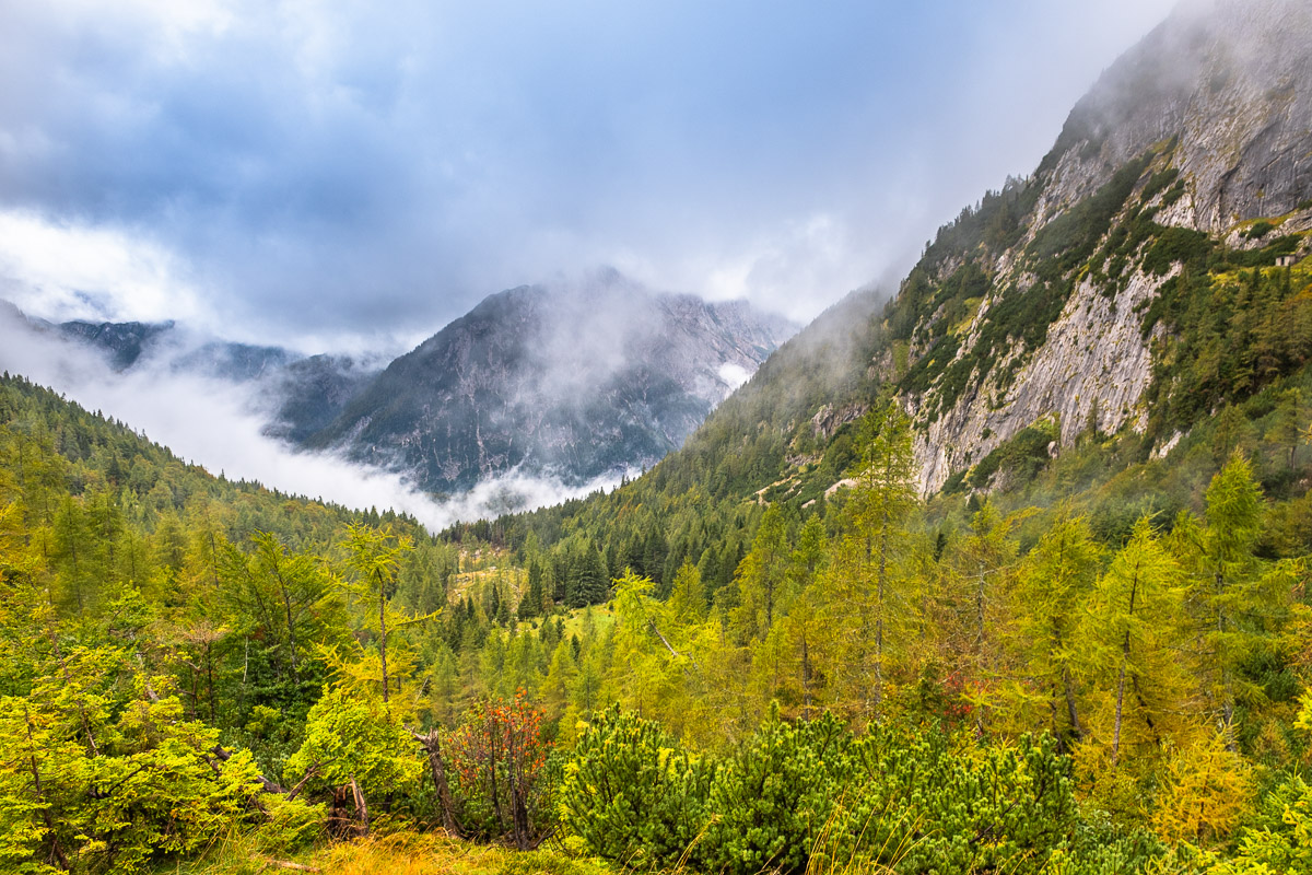 Alpenpanorama in Slowenien in der Nähe des Soca Tals