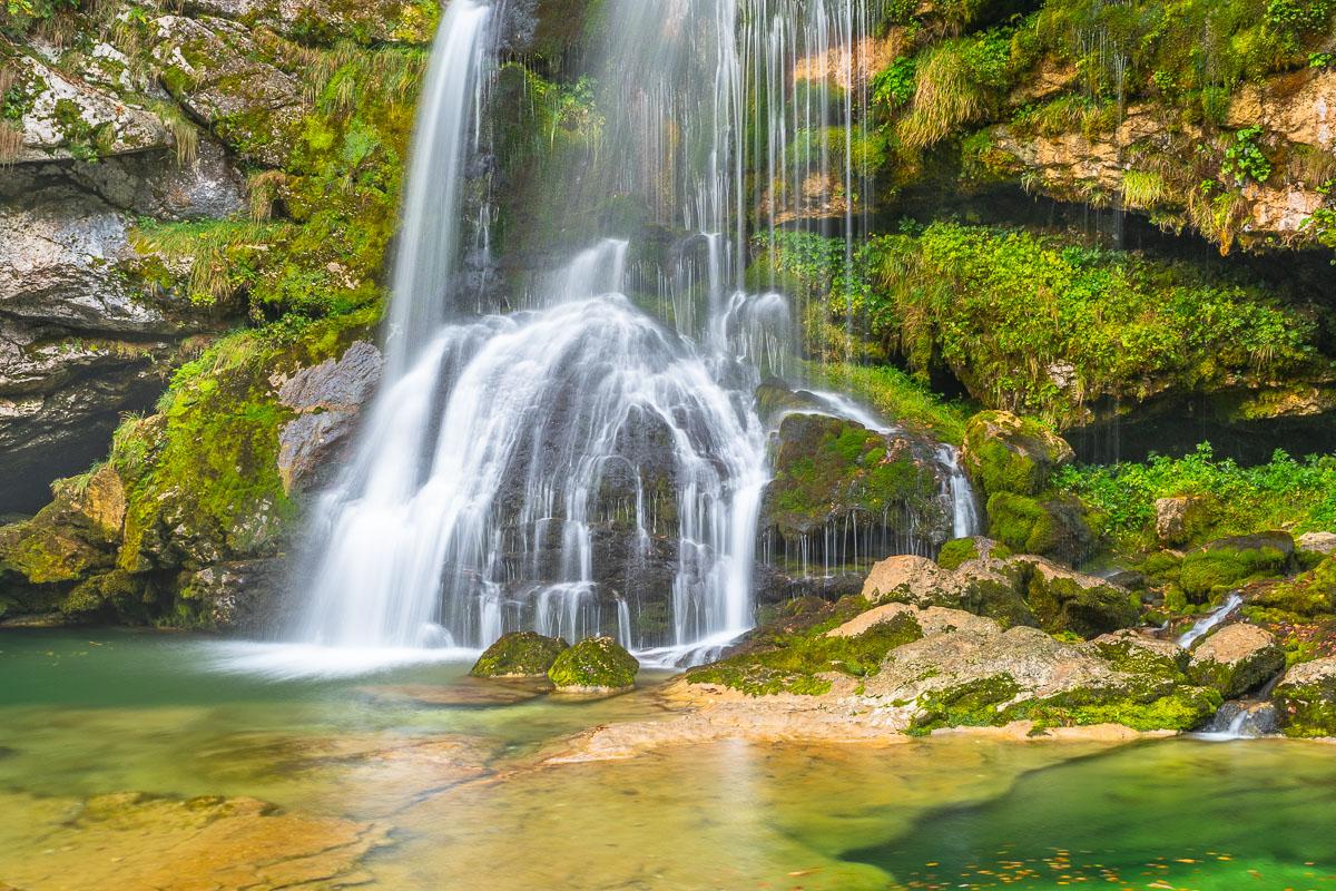 Wasserfall in Slowenien