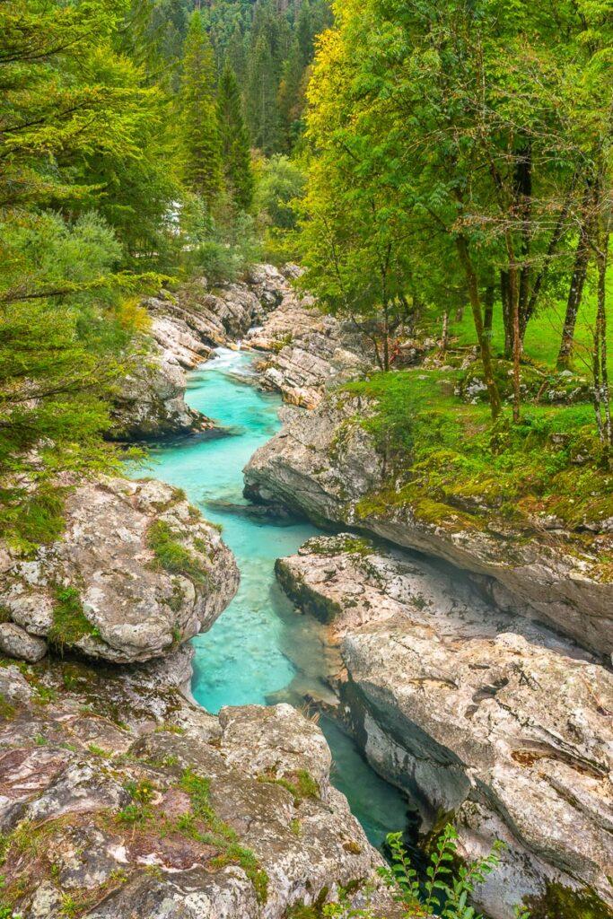 Kleine Soca Schlucht in Slowenien