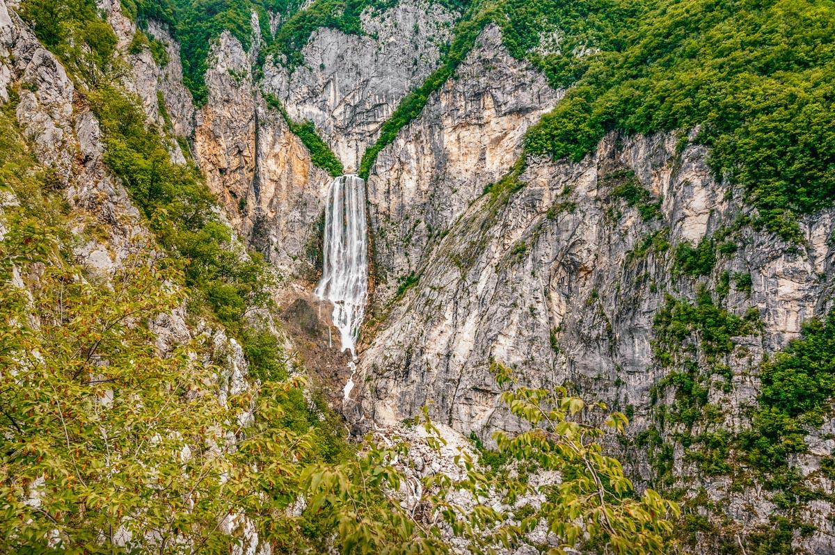 Boka Wasserfall im Soca Tal
